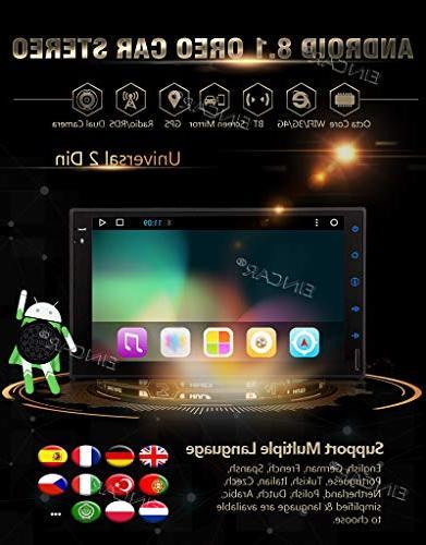 EinCar Octa 7 inch Car Universal Double Din in GPS Navigation 32GB ROM 2GB WiFi RDS Video