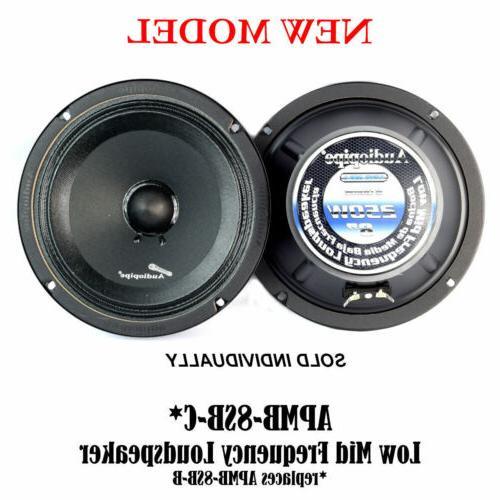 """Audiopipe APMB-8SB-C 8"""" 250W Low Mid Frequency Loud speakers"""