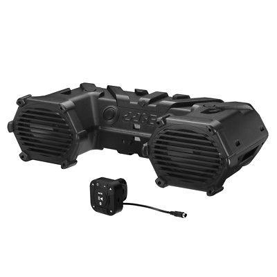 Boss Amplified Bluetooth ATV Speakers Sound System with LEDs