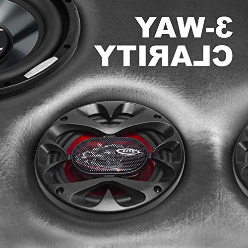 BOSS CH6530 Speakers - Of Power Per And 6.5 Inch, Range, 3 Way, Sold Pairs, Mounting