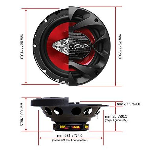BOSS Audio Speakers 300 Of Power And 6.5 Inch, Full Pairs, Mounting
