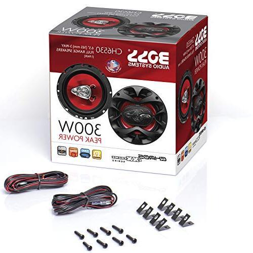BOSS Audio CH6530 Speakers Watts Of Per And 150 6.5 Inch, Full 3 Way, Pairs,