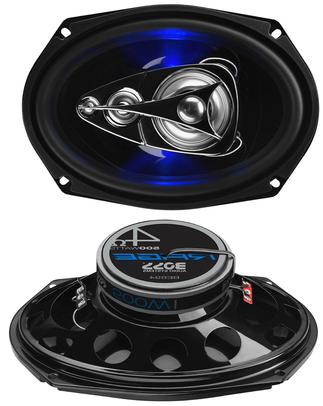 "Boss BE694 Rage 6"" x 9"" 4 Way 500W Full Range Mobile Audio/V"