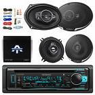 "Bluetooth CD/AM/FM Receiver, 2x 6x9"" Speakers, 2x 5-1/4"""