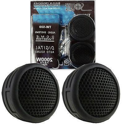 Brand New 500 Watt  Car Stereo Door Speakers Dash Super Twee