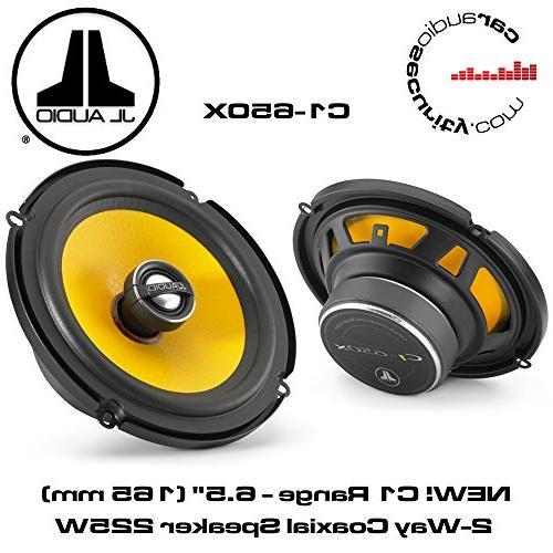 "JL Audio C1-650x 6-1/2"" 2-Way Coaxial Car Audio Speakers"