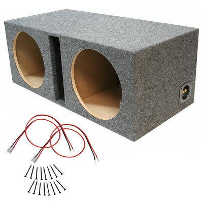 car audio dual 10 inch ported subwoofer