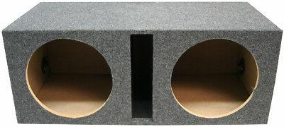 """Car Audio Dual Inch Ported Subwoofer Stereo 10"""" Speaker Box"""