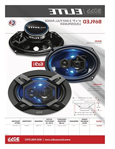 "BOSS Elite Series Car Speakers, Model | 500 6"" x Full"