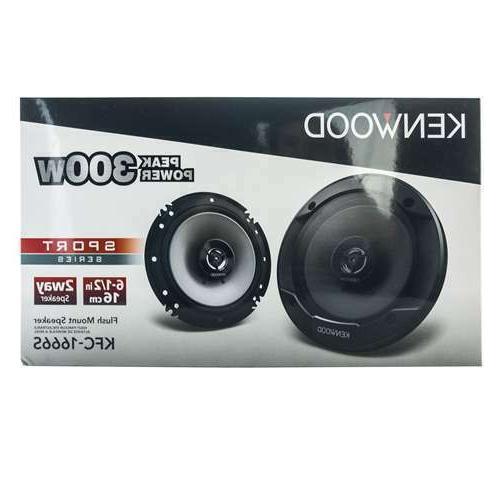 """Kenwood KFC-1666S 300 6.5"""" 2-Way Car Audio Speakers 6-1/2"""""""
