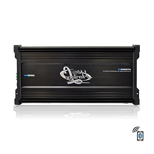 Lanzar Car Audio, 3,000 5 Channel, 2 Bridgeable 4 Ohm, MOSFET, Bass Boost, Mobile Amplifier for Car Electronics, Wireless Bluetooth