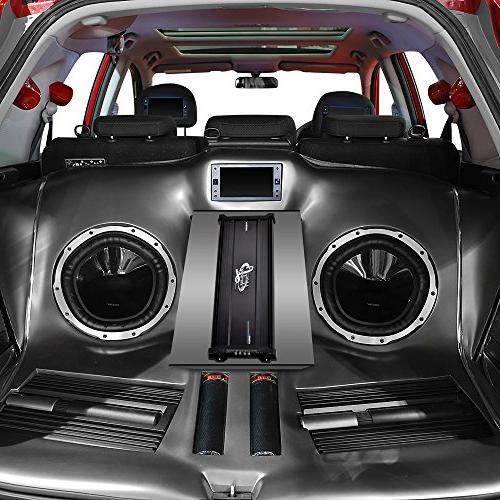 Lanzar Car Audio, 3,000 5 2 Ohm, 4 Ohm, RCA Input, Bass Boost, Car Wireless
