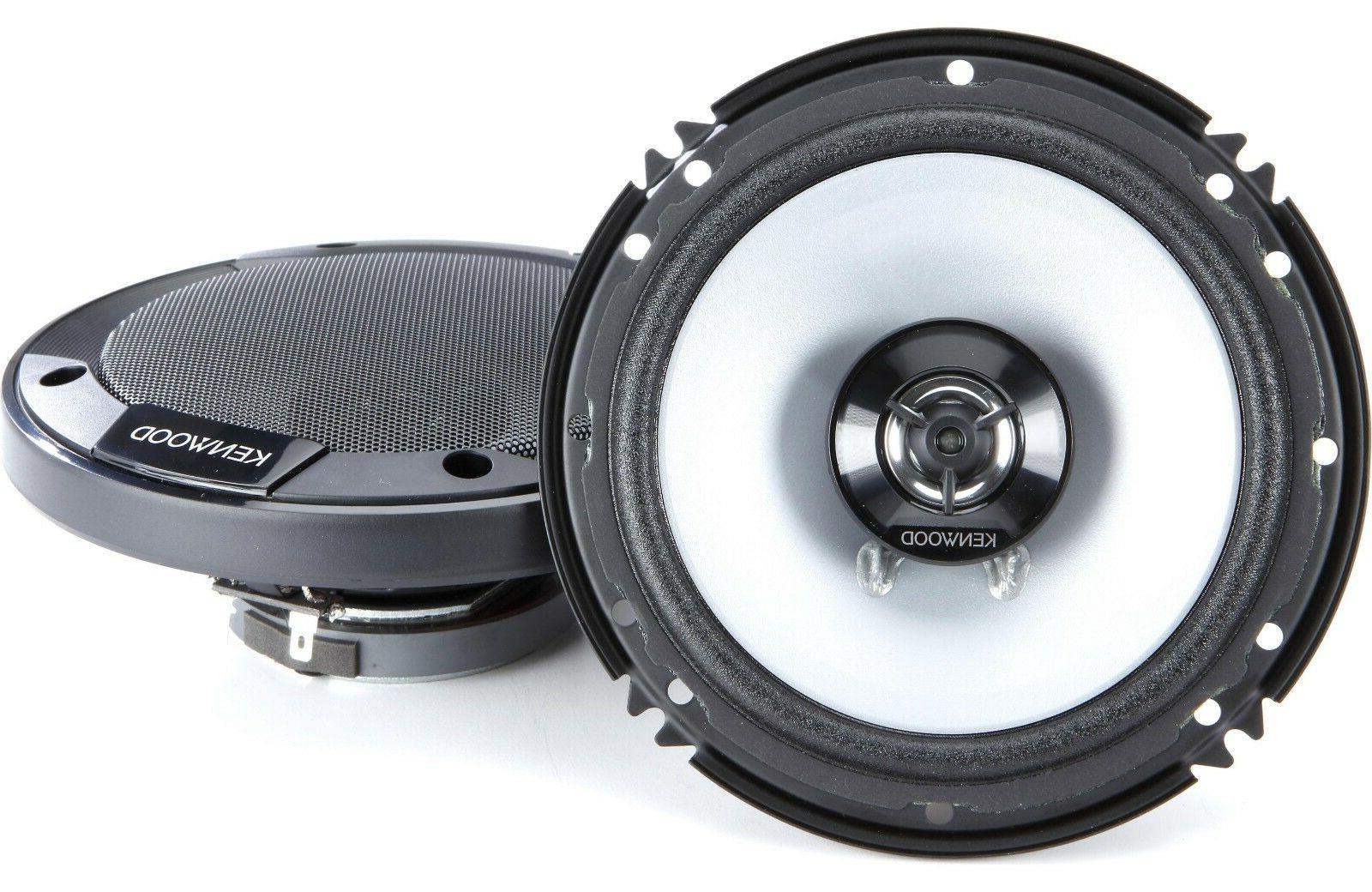 "KENWOOD KFC-1666S 6.5"" 2-WAY AUDIO Watt COAXIAL SPEAKERS"