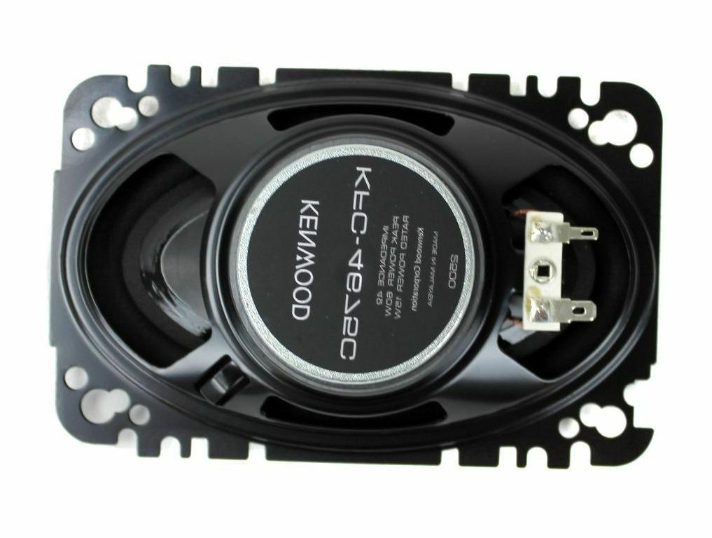 "KENWOOD KFC-4675C AUDIO 4x6"" 60W SPEAKERS 1 PAIR"