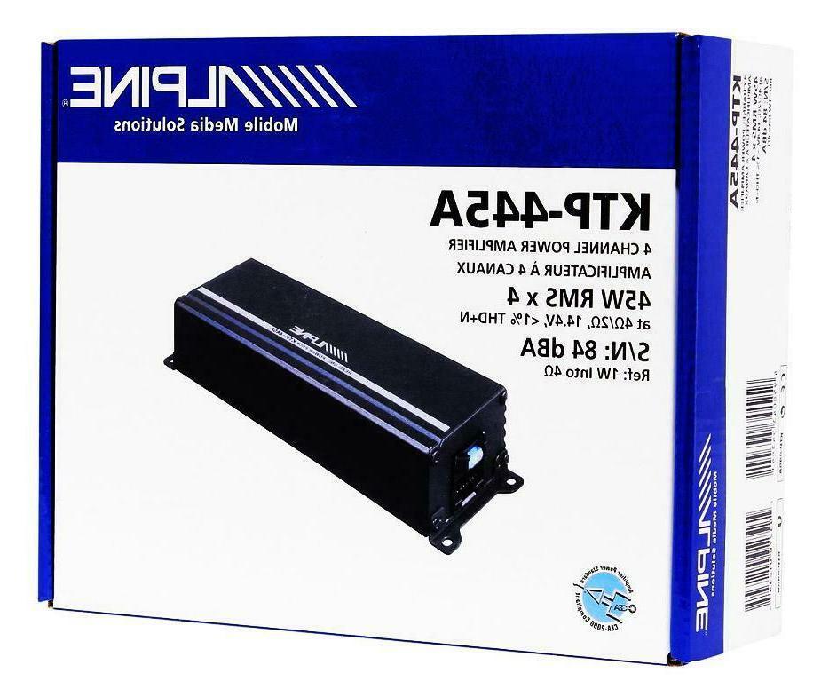 ktp 445a 4 channel power pack amplifier