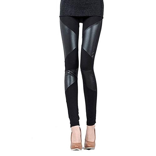 leggings women stitching stretchy black
