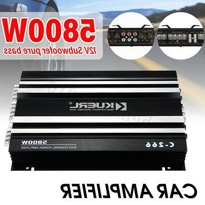 meco support 4 speakers 5800w car amplifier