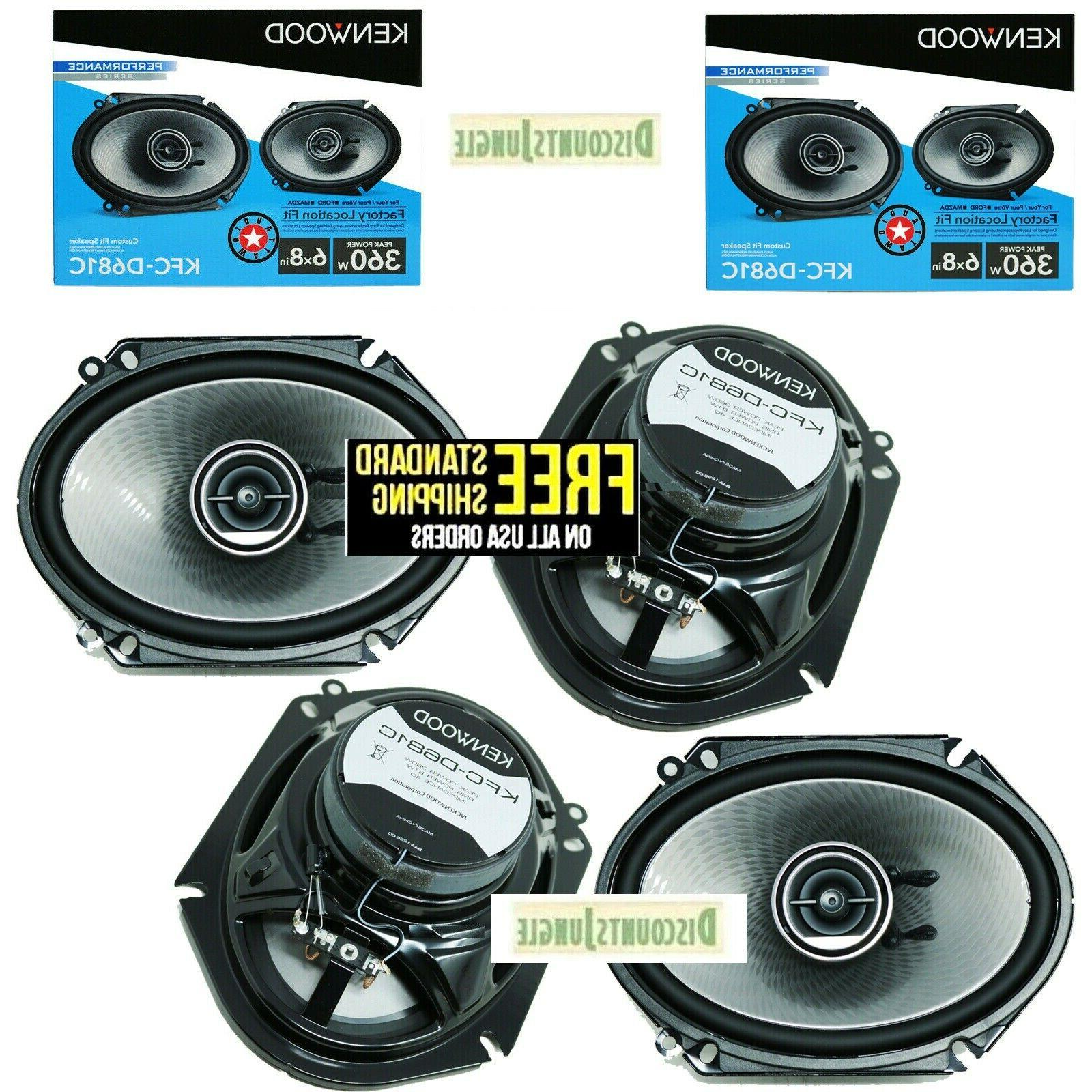 NEW  Pairs Kenwood KFC-C6895PS 6x8 Car Speakers 3-Way 4 Ohm