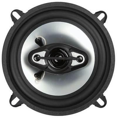 "BOSS NX524 5.25"" 4-Way Car Audio Coaxial Speakers Stereo Black Ohm"
