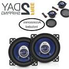 "Pair Car Speakers 4"" 180 Watt Two Way Full Loud Range Auto S"