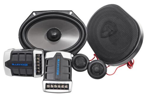 Pair Rockville RV68.2C 6x8 / 5x7 Component Car Speakers 900