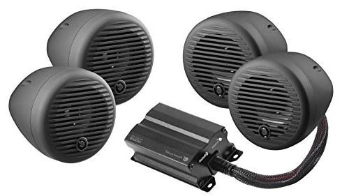Planet Audio PMC4B Black Motorcycle/ATV Sound System  & Amp