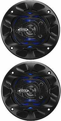 "BOSS Audio Systems RAGE 4"" 3-Way Car Speakers 225 Watt Blue"