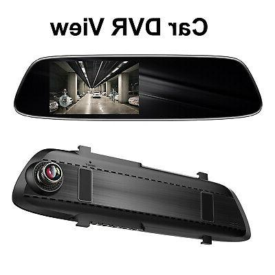 Rearview Mirror Car DVR Camera Car Dash Cam Video Recorder Speaker Mic