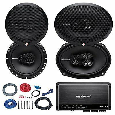 "2x Rockford Fosgate 6.5"" and 2x 6x9"" inch 3-Way Car Coaxial"