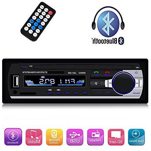 Single Din Car Stereo Reveiver with Bluetooth Audio FM Radio