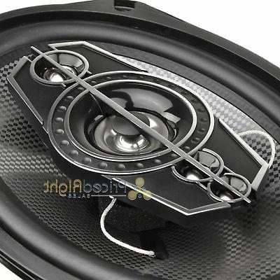 DS18 6x9 5-way 520 Max With Speaker Enclosures Bundle Kit Set