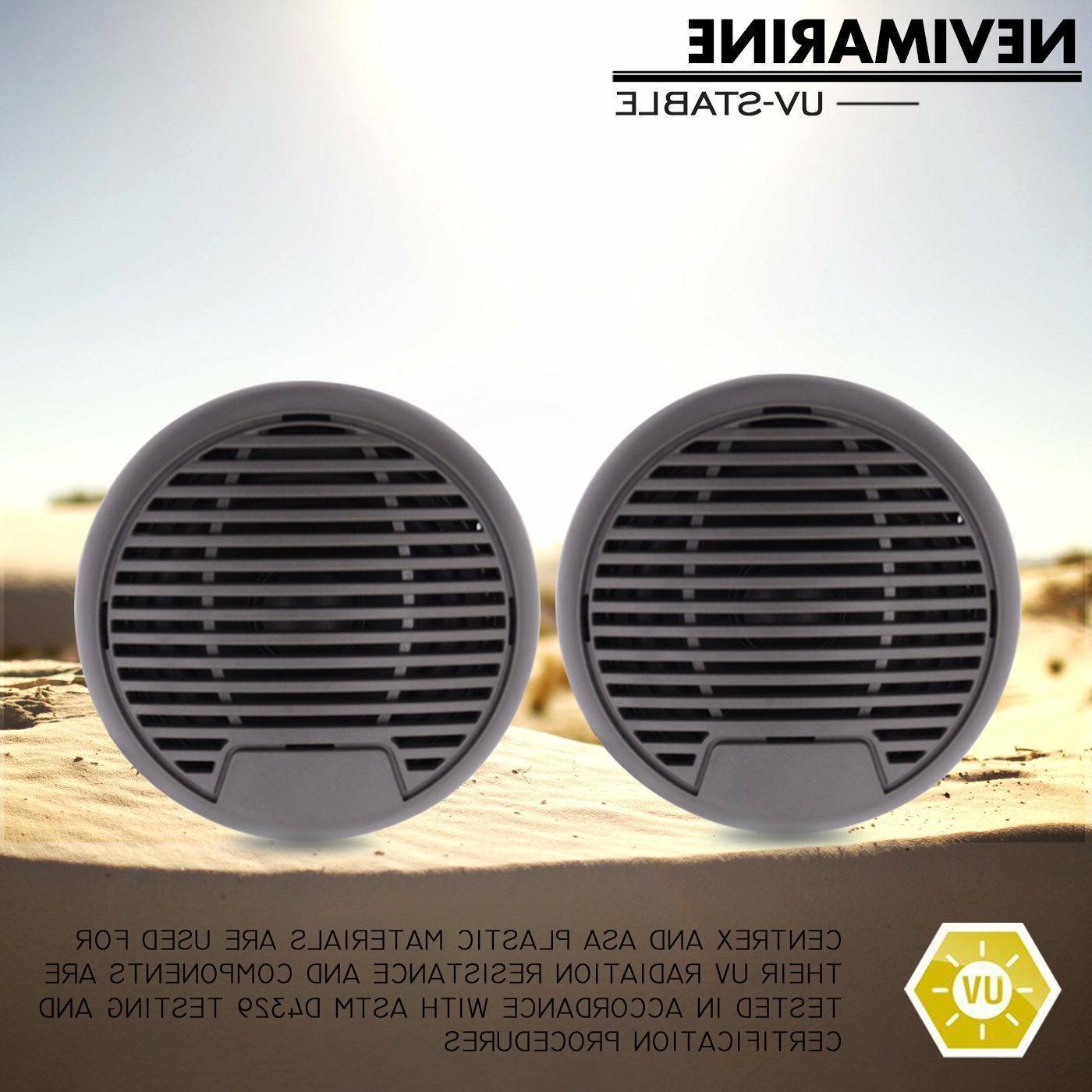 "3"" Car Marine Speakers 2 Way Waterproof for FM AM MP3 Radio"