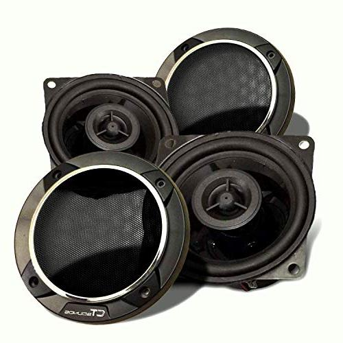 CT Sounds Strato 4 Inch Car Audio Coax Door Speaker Set - Pa