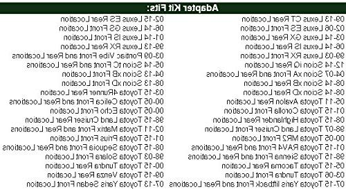 "Toyota Corolla & 2005-2015 Tacoma 6.5"" Rings - SAK036_55875-1 Pair"