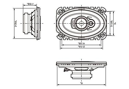 """Pioneer 6"""" Speaker, Set of 1"""