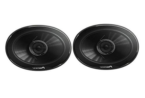 "New Pair Pioneer 400 Watts 3-Way 4 Range with Cone midrange and 3/8"" Dome tweeter Car Stereo Speakers 6X9"" FREE ALPHASONIK EARBUDS"
