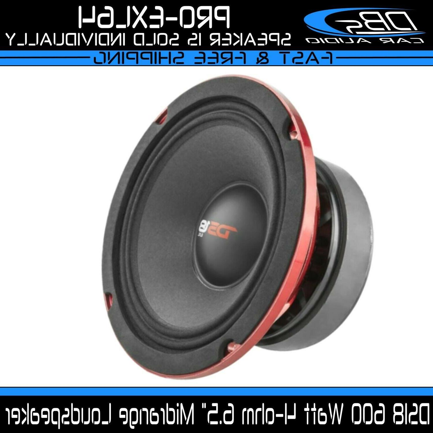 """DS18 PRO-X10MBASS Loudspeaker - 10"""", Midbass, Red Steel Bask"""