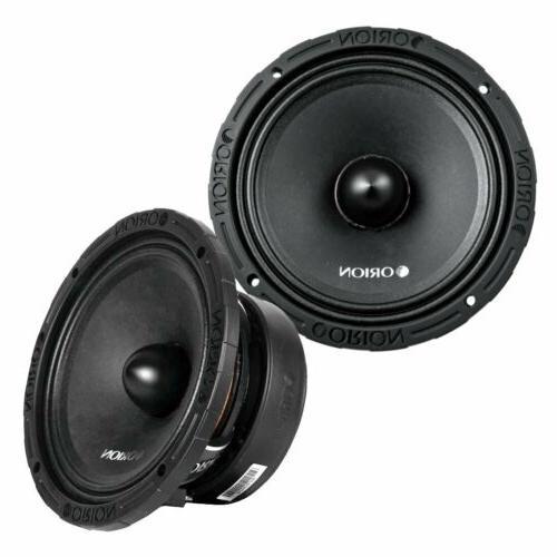 Orion XTX88F Xtr Midrange Speaker With Sealed Basket & Grill 8 Ohm In 1200w Max