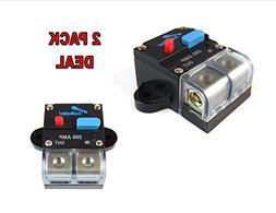 2 PACK 12 Volt 200 AMP Manual Resettable Circuit Breaker Car