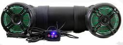Q Power 500W Marine Bluetooth ATV Speaker System with LED Li