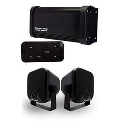 Herdio 500 Watts 4-Channel Marine Car Bluetooth Full Range C