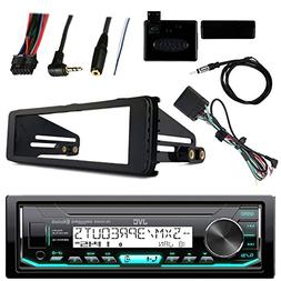 JVC Marine Radio Stereo Bluetooth Receiver Bundle with Adapt