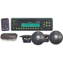 "200-Watt Marine Receiver with Four 5 1/4"" 2-Way Speakers and"