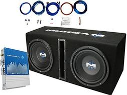 "MTX MB210SP Dual 10"" 400 Watts RMS Loaded Subwoofer Enclosur"
