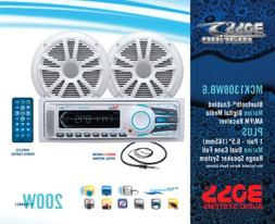 BOSS Audio MCK1308WB.6 Receiver/Speaker Package, Bluetooth,