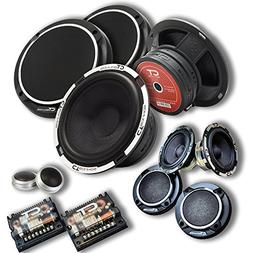 "CT Sounds Meso 6.5"" 3-Way Component Car Audio Full Range Spe"