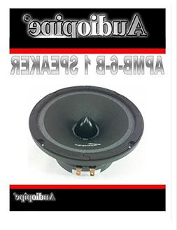 "Audiopipe 6"" 250W Low Mid Frequency Loud speakers APMB-6-B F"
