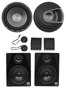 Polk Audio MM6502 6.5 750w Component Car Speakers+Free Power