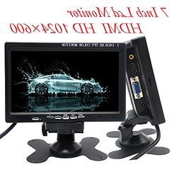 Padarsey 7 inch Monitor HDMI - 1024x600 HD TFT LCD Screen Di