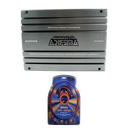 Pyramid 2000 Watt 4 Channel MOSFET Amplifier + 4 Gauge Ampli